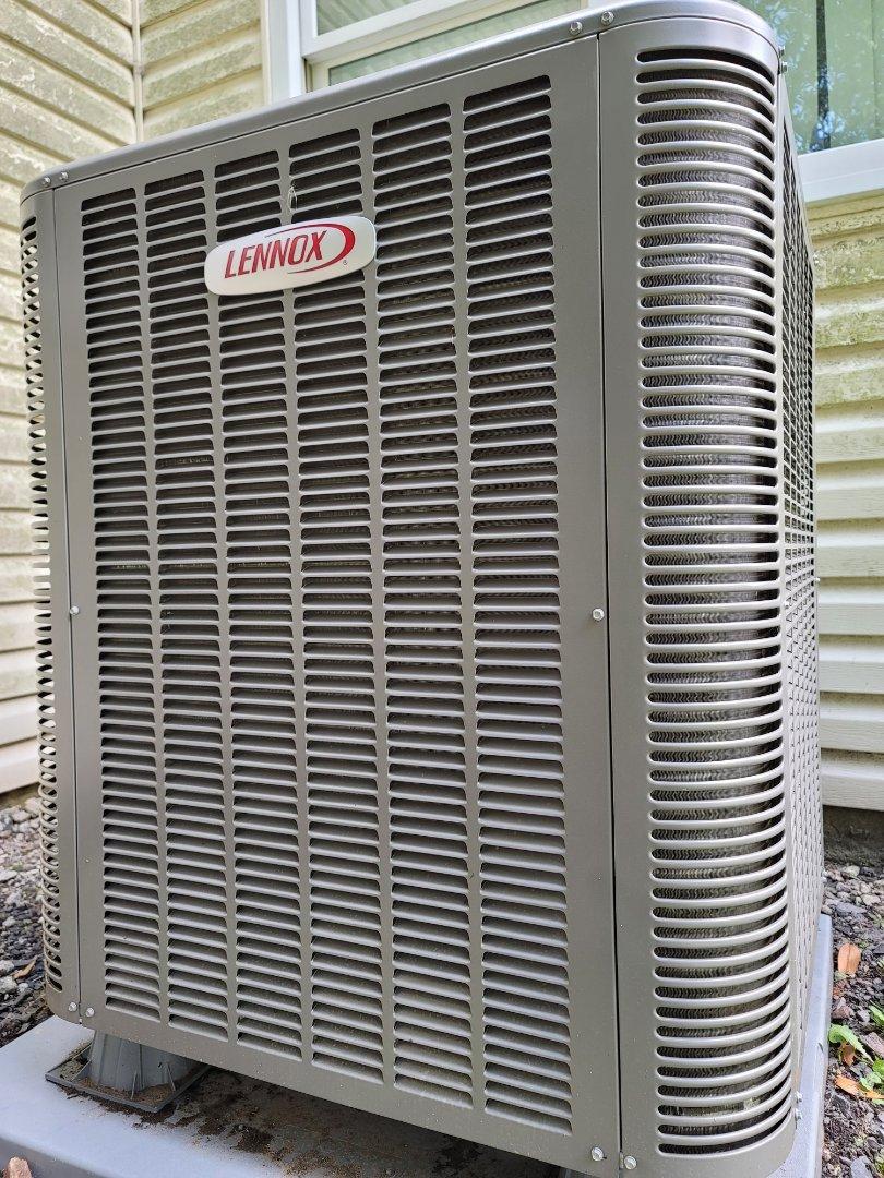 Warminster, PA - Heat pump installation call. Performed Heat Pump install on high efficiency Lennox Unit.