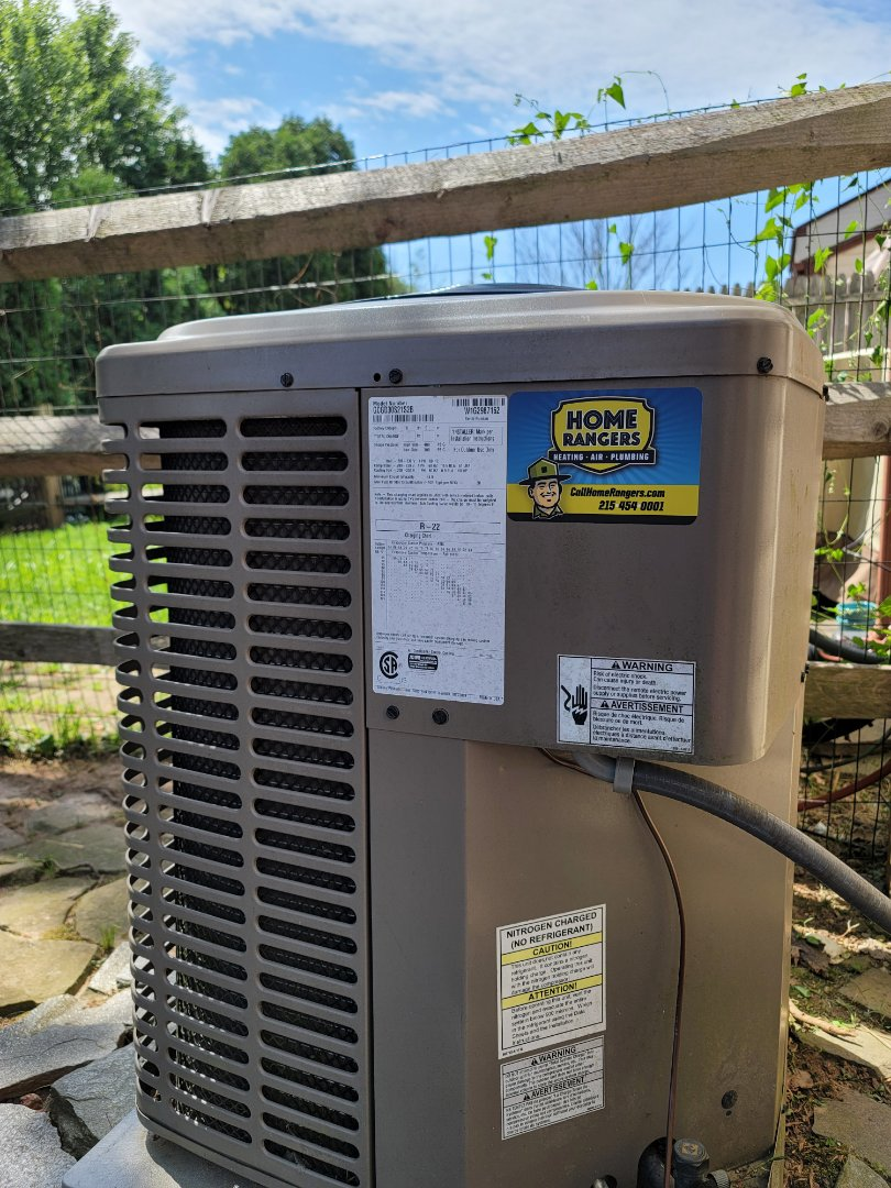 Warminster, PA - AC service call. Performed AC repair on York unit.
