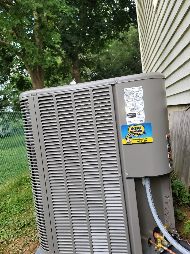 Willow Grove, PA - Furnace and air conditioner installation call. Performed Furnace install on Lennox Unit. Performed Install on Lennox high efficiency air conditioning unit.
