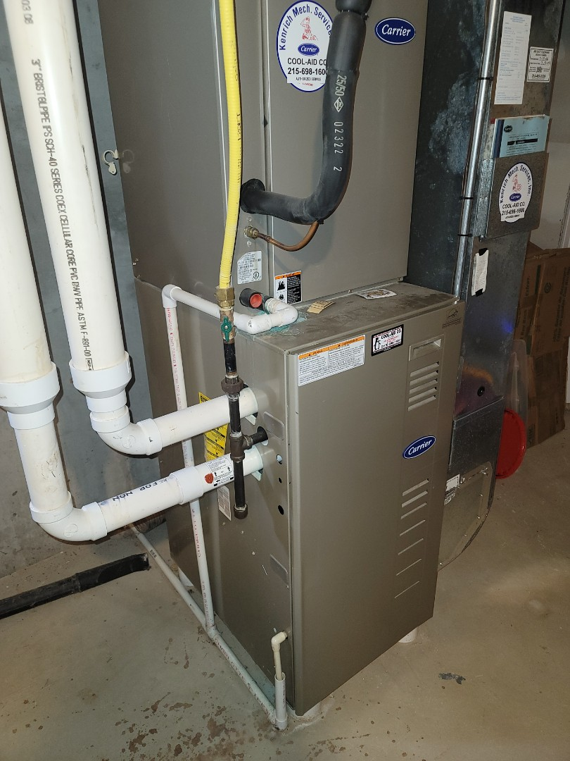 Jamison, PA - Estimate: new furnace and ac installation call. Performed estimate to install Lennox High efficiency gas furnace and air conditioning system.