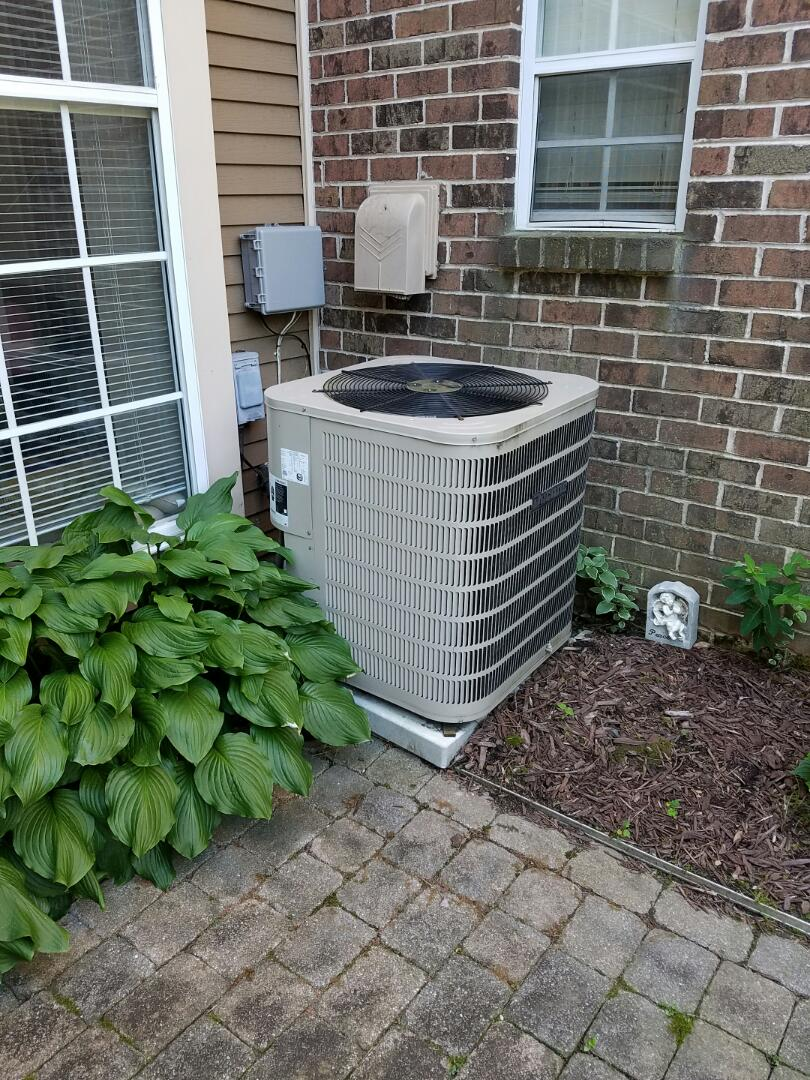 Morrisville, PA - Air conditioning service call in Yardley, PA.  install new honeywell programmable thermostat for Ducane heat pump system. check evaporator coil, first signs of mold on the coil.  check operation of air conditioner - ac unit is in the good working condition. recommended annual tune up service for the best performance.