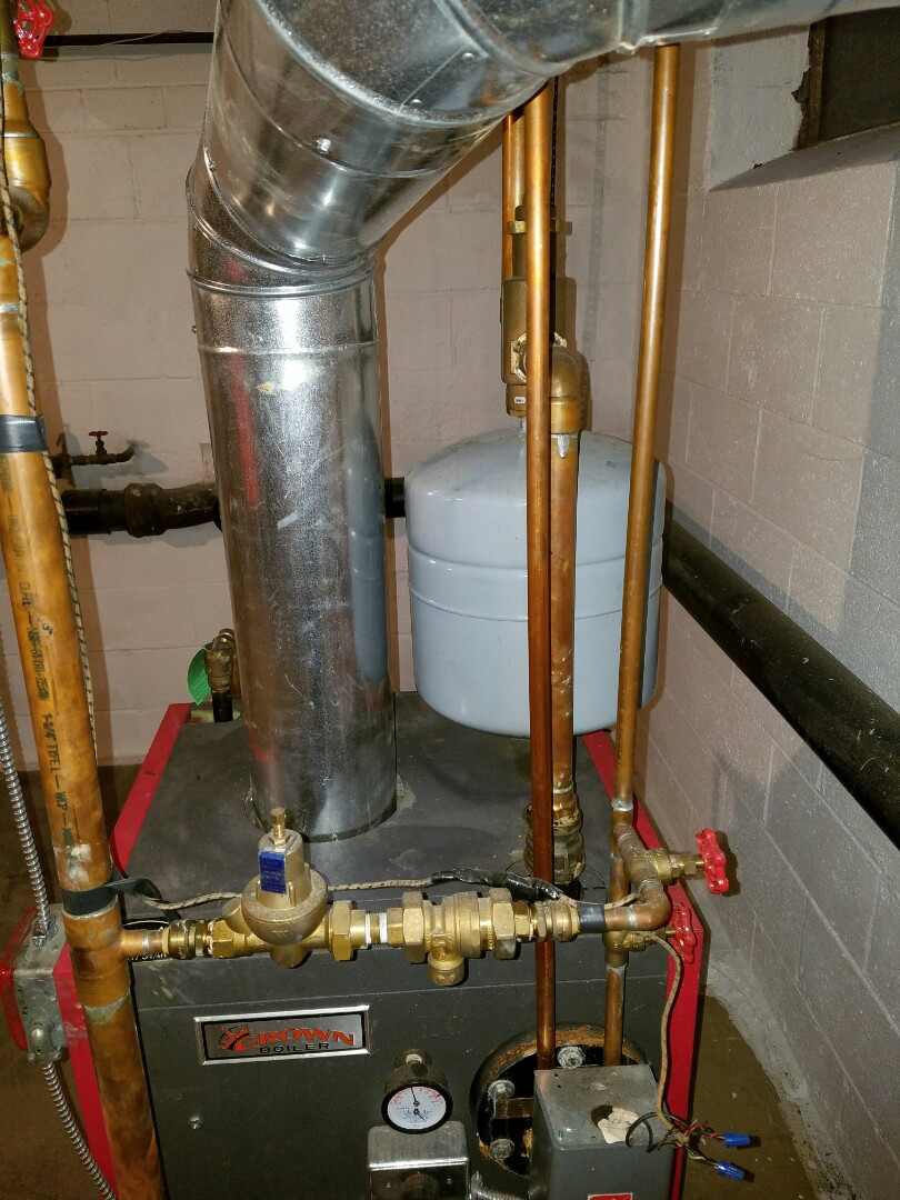 Richboro, PA - residential no heat service call in Richboro.  repair crown hot water boiler.  fixed pilot on crown boiler.