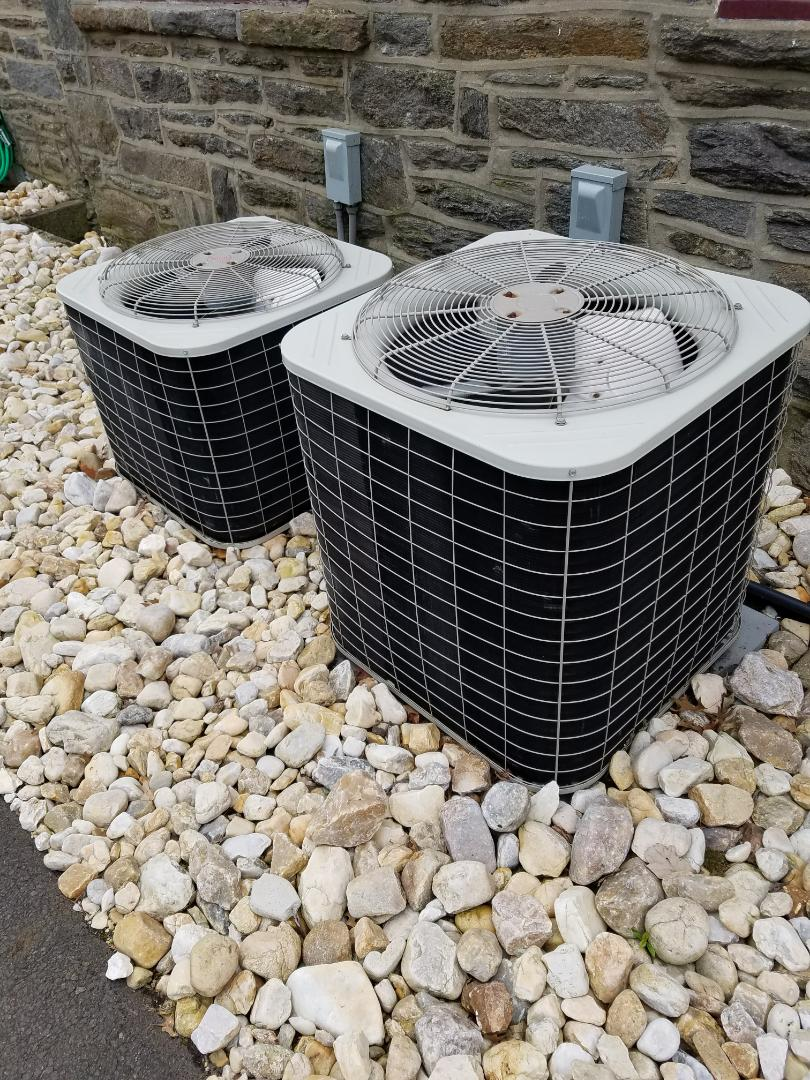Jenkintown, PA - Residential Air conditioning service call in Jenkintown. performed annual maintenance on two Bryant units. clean coils, tune up operation of the air conditioner.