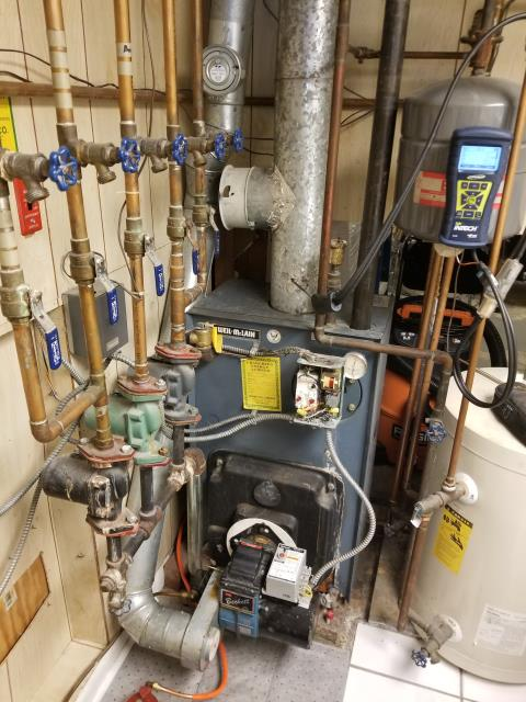 Cold Spring, NY - Oil Burner Tune up of a Weil McLain P468, with Beckett Burner.