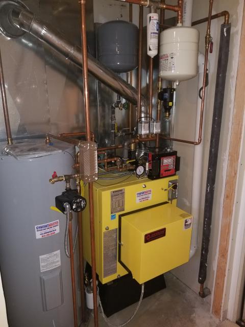 Hopewell Junction, NY - Installation of an Energy Kinetics Oil Boiler with 40 Gallon Hot Water Heater Tank.
