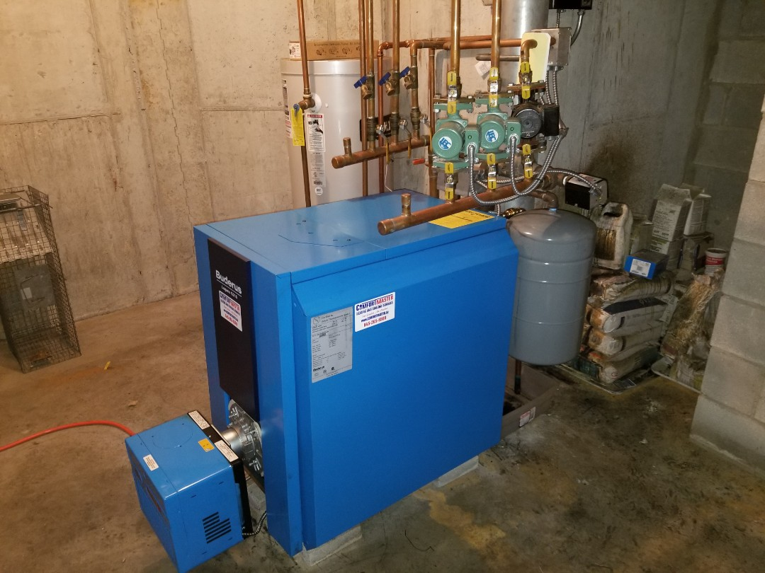 Cold Spring, NY - Buderus boiler with Riello Burner Tune up. Found relief valve leaking and replaced.