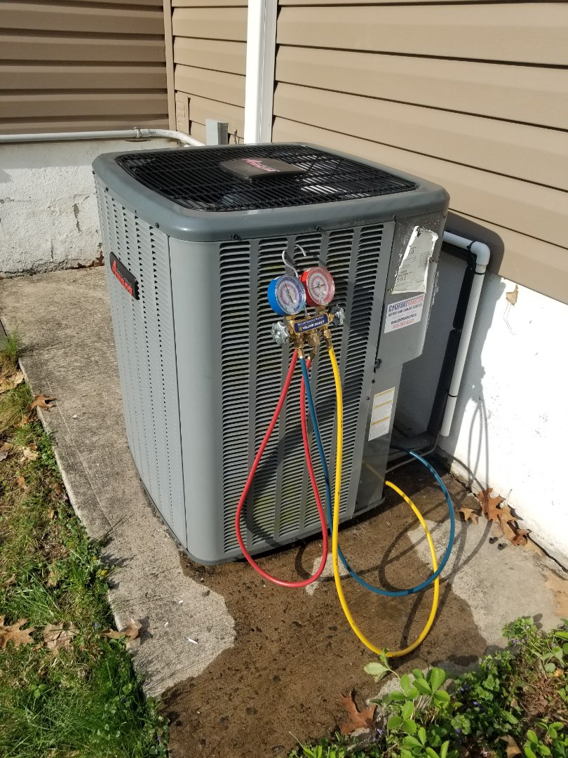 Highland, NY - Amana Heatpump system checkup. Tested operation to ensure system is ready for cooling season and heatpump operation for cool weather operation