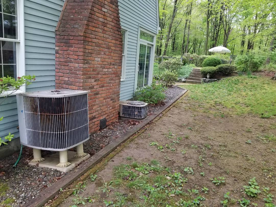 Wappingers Falls, NY - York AC and Carrier Heatpump Spring checkup. Found Carrier low on freon and added after reviewing options with Client.