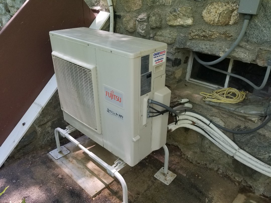 Philipstown, NY - Fujitsu Ductless Minisplit heatpump system checkup. Tested freon level, and complete operation in heating and cooling. Rinsed filters, coils and flushed drain lines.