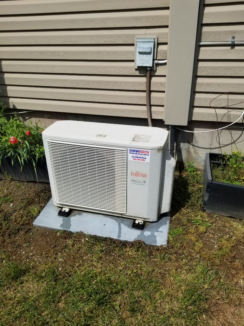 Hopewell Junction, NY - Fujitsu Ductless Minisplit annual maintenance.  Found fan wheel of indoor unit very dirty, and recommended deep Bib cleaning.