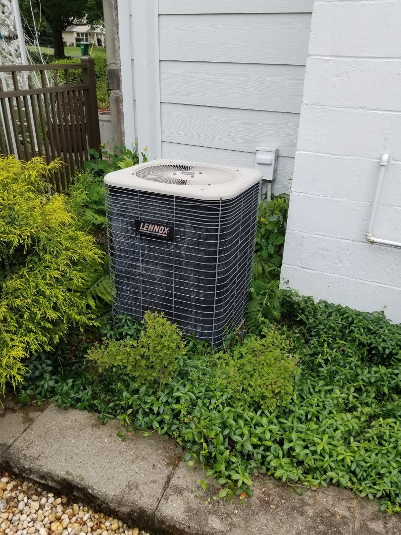 Poughkeepsie, NY - Lennox air conditioning system not blowing as cold as it should due to restricted txv metering device. Also performed annual maintenance