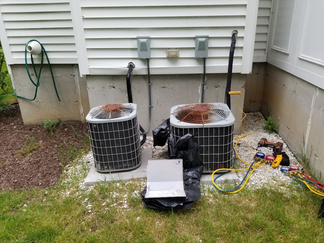 Brewster, NY - Carrier air conditioner not shutting off, and one side of house extremely cold.