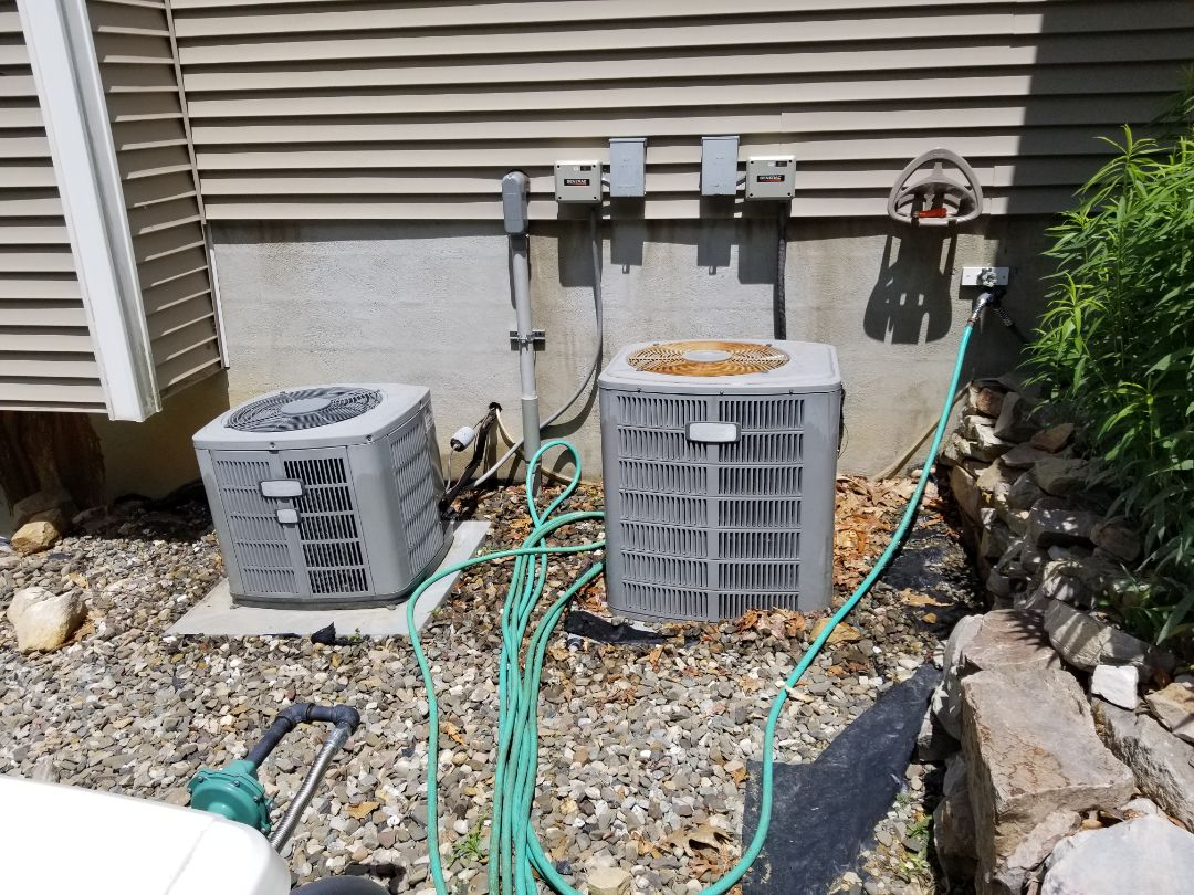 Poughquag, NY - American standard Trane air conditioning units with First Company Hydro Air Handler annual maintenance. Equipment is approximately 20 yrs old and a budget/plan should be established for replacement before facing a major and costly repair
