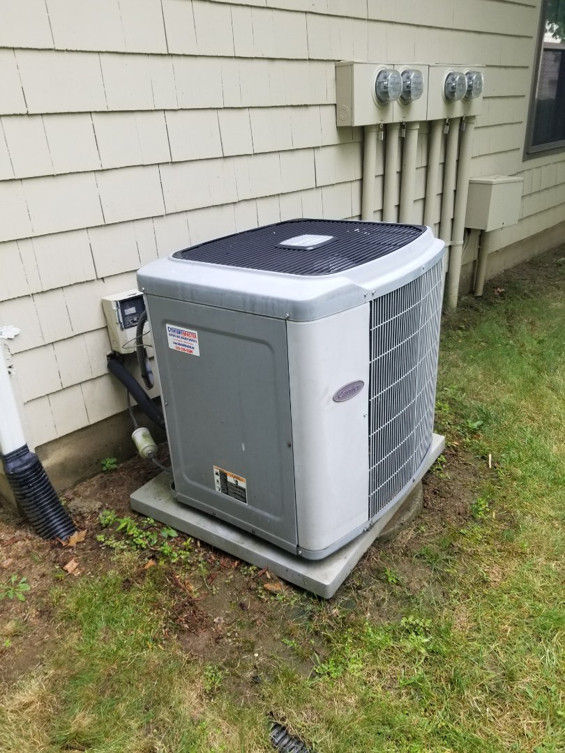 Carrier ac and gas furnace tune up. Ac system has r22 which is obsolete. Time to plan and budget for replacement of system based on age and condition