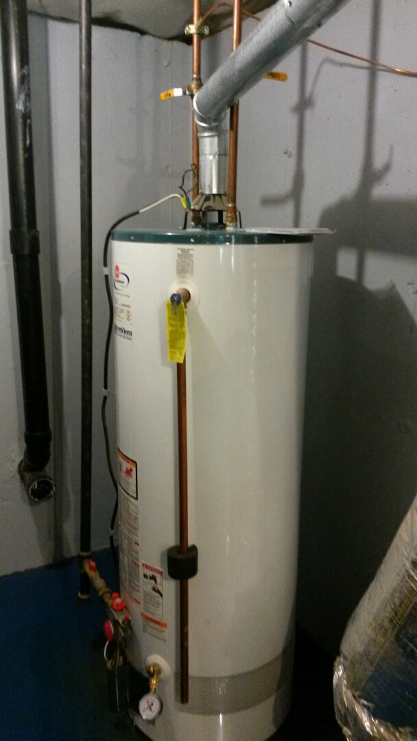 Cold Spring, NY - No hot water. Water heater leaking all over basement from ruptured tank