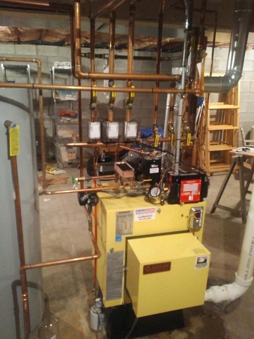 Verbank, NY - Oil boiler tune up and leak repair