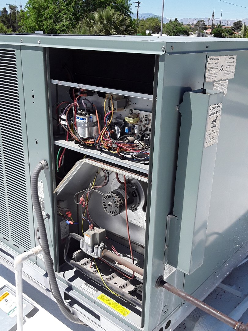 North Las Vegas, NV - Rheem gas package system a/c cooling maintenance