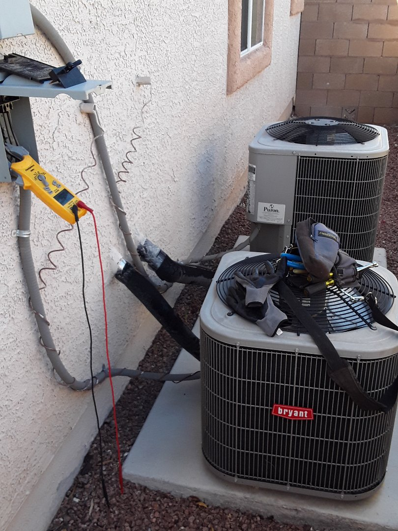 North Las Vegas, NV - Bryant split system a/c service and cleaning