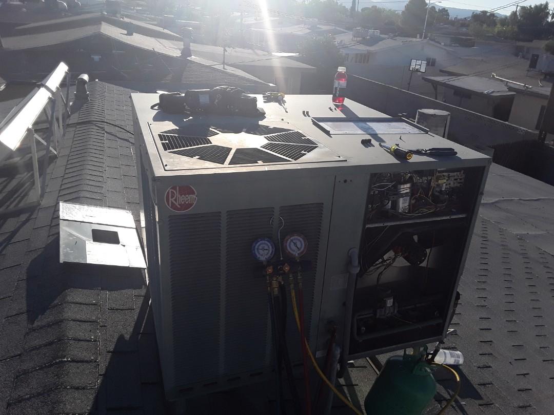 Las Vegas, NV - Rheem gaspack a/c repair!
