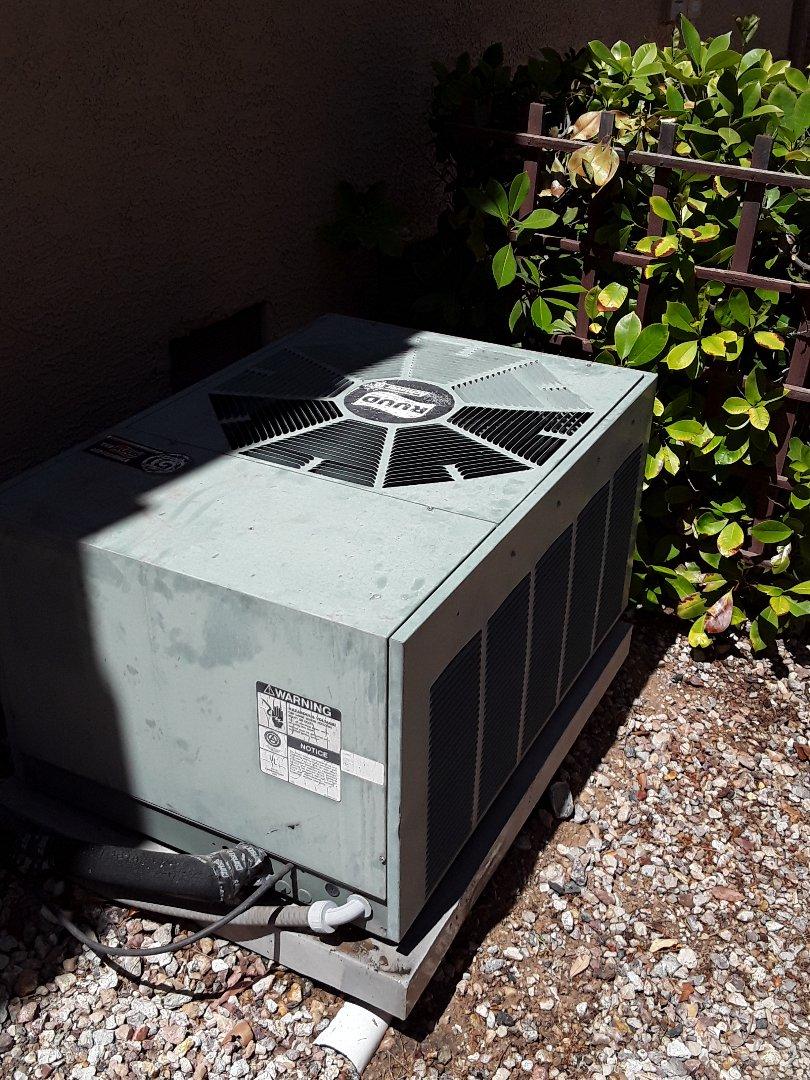 Las Vegas, NV - AC tune up sun city summerlin Rudd unit.