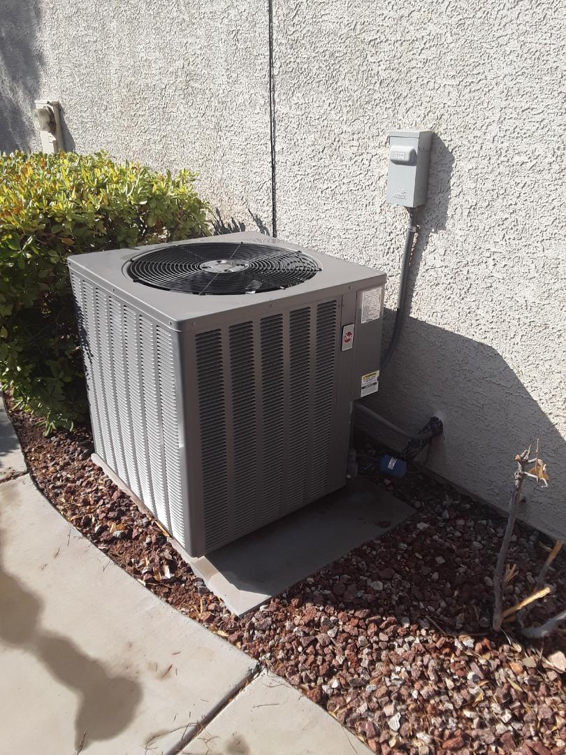 Henderson, NV - Performed heating and cooling check up on 5 ton rheem split system in anthem