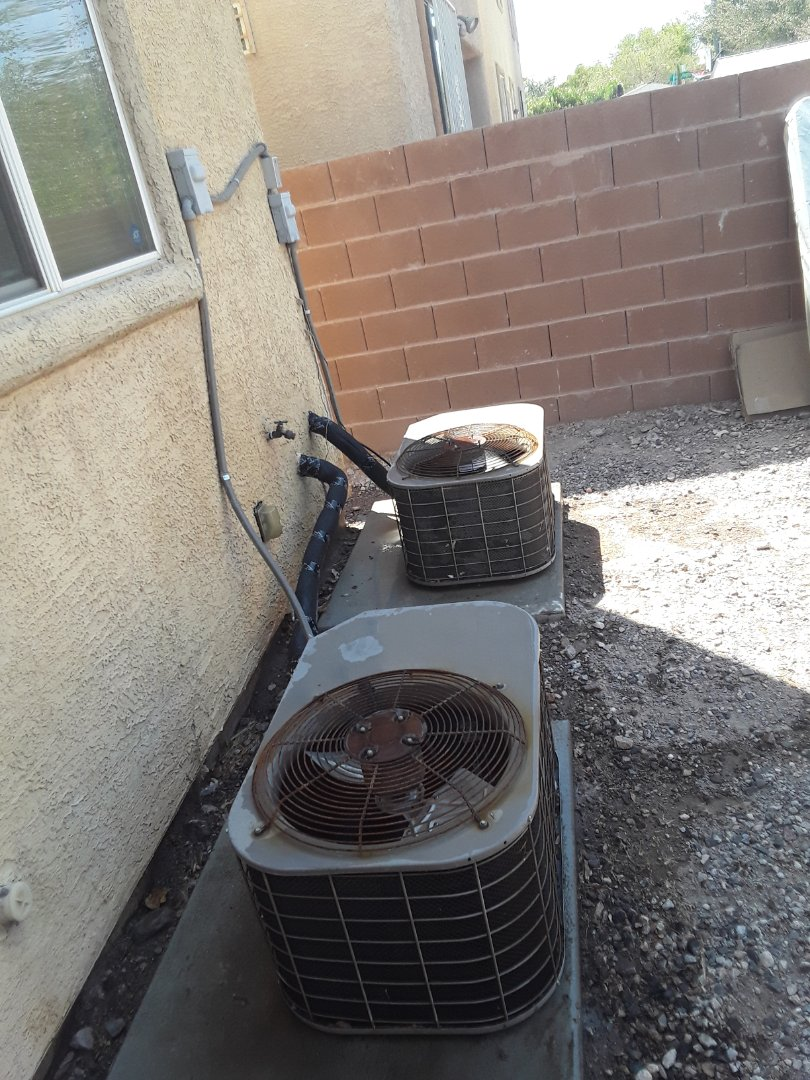 Las Vegas, NV - Changed condenser motor, capacitor, recharged units with r-22 refrigerant and re-insulated refrigerant lines.