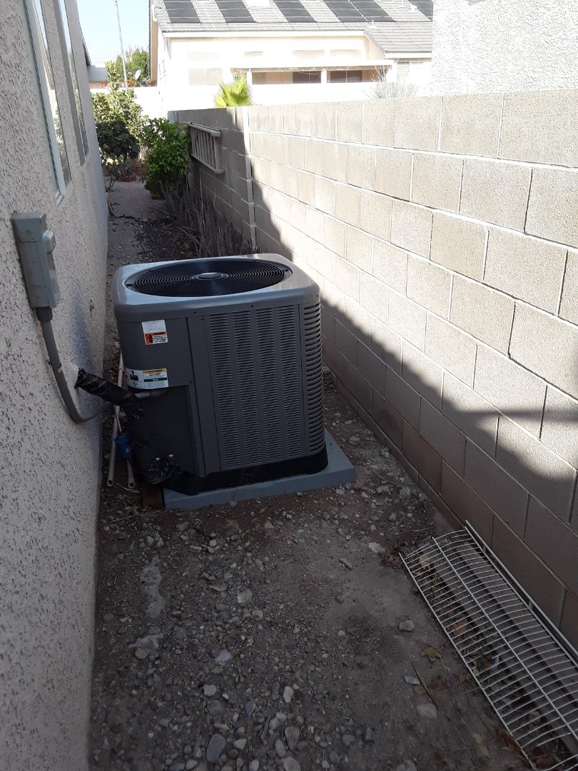 Las Vegas, NV - Performed heating and cooling tune up on a 5 ton rheem split air conditioner