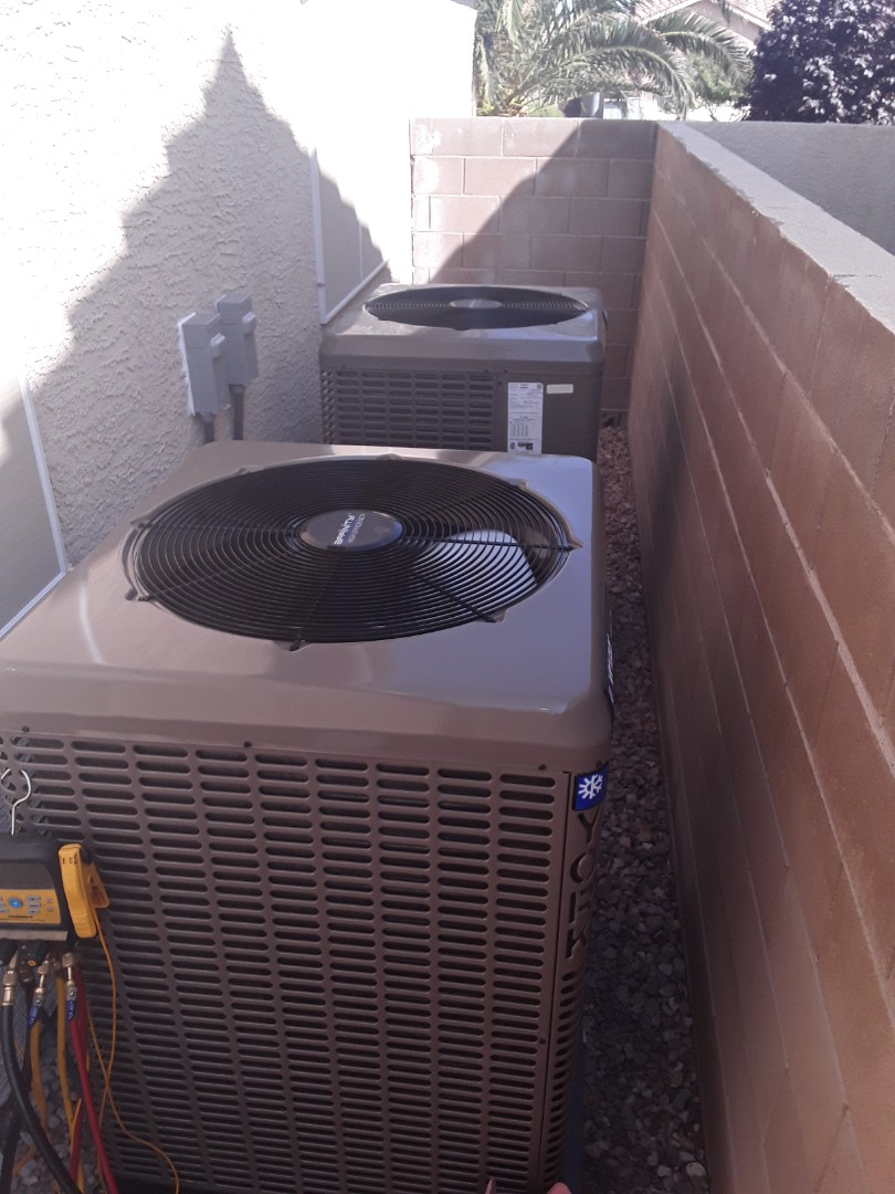 AC and furnace replacement York units