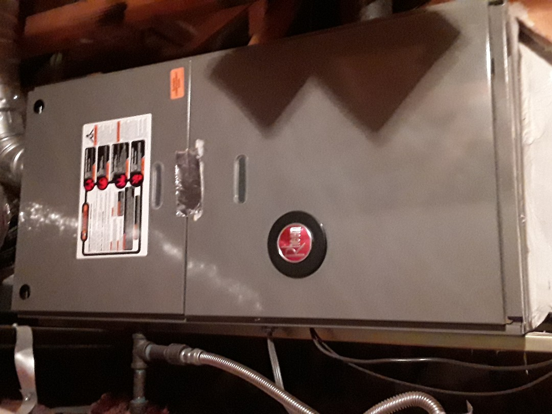 Performed heating check up on rheem gas furance