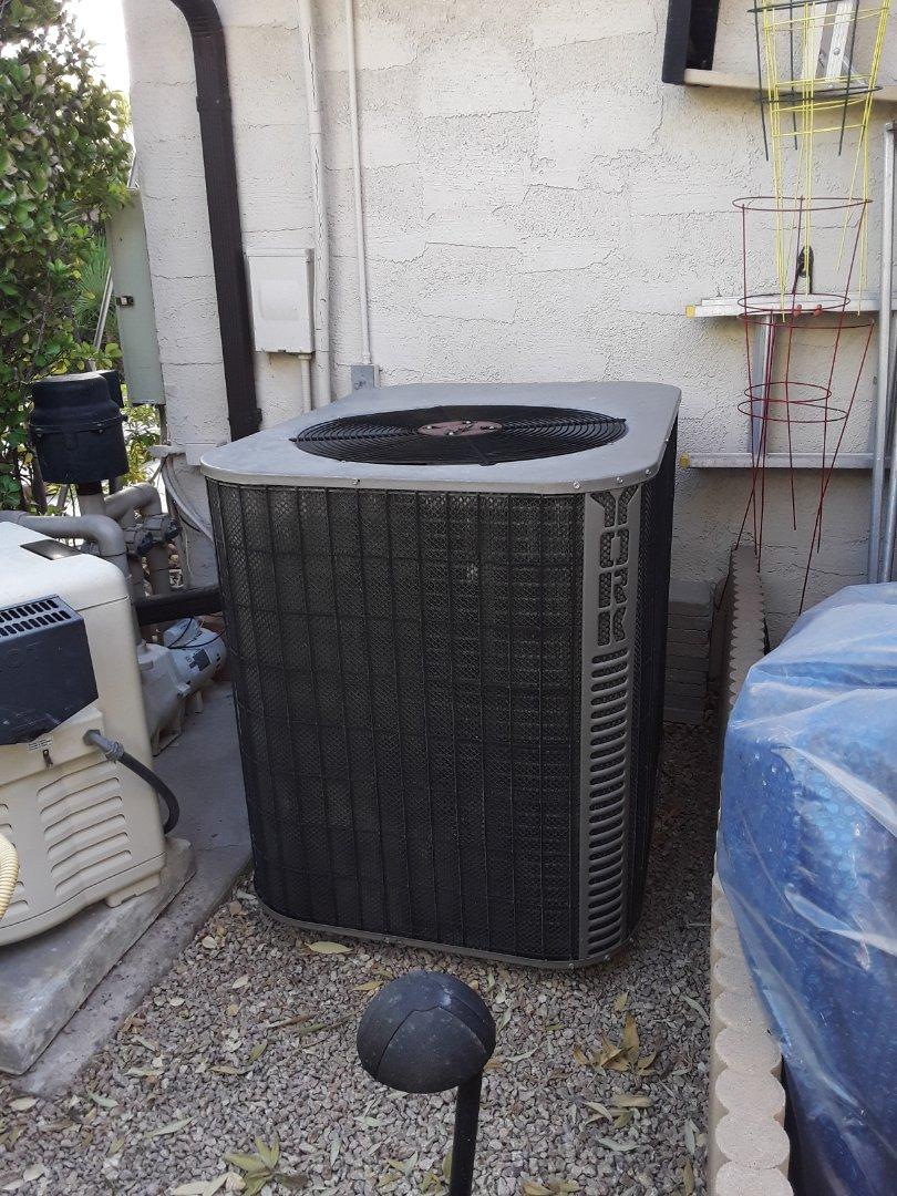 York heat pump heating tune-up and maintenance