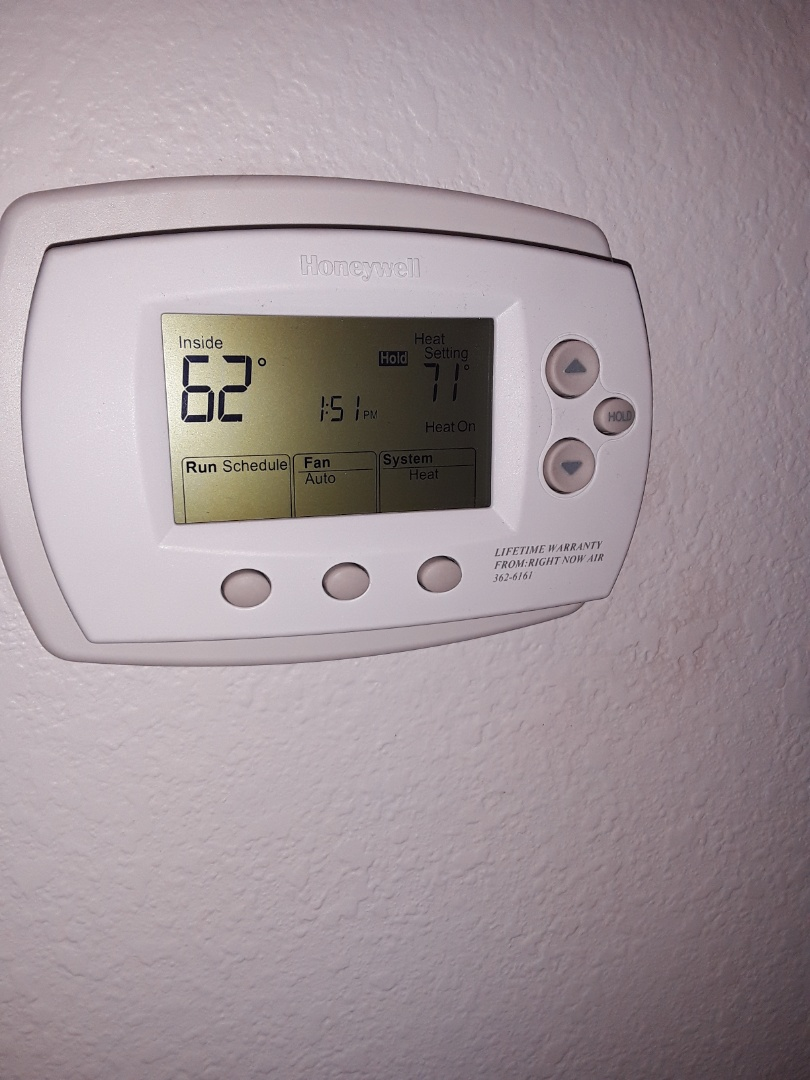 Las Vegas, NV - Replaced thermostat gas furnace and air conditioner