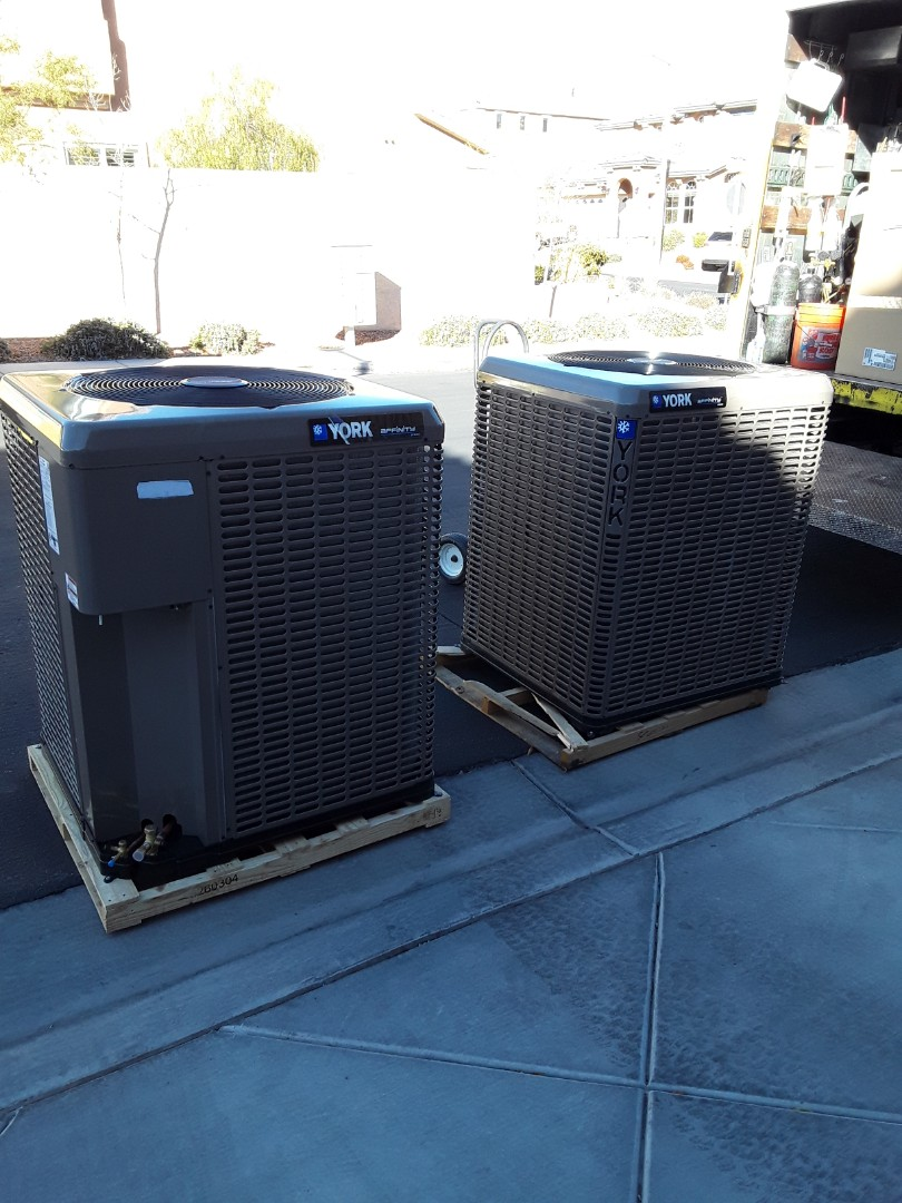 Las Vegas, NV - New system replacement York units furnace and AC