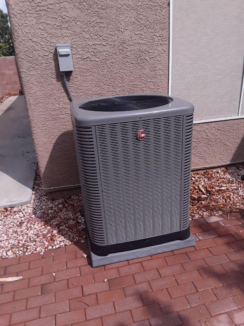 Rheem AC Heating cooling tune up service maintenance in Las Vegas Henderson