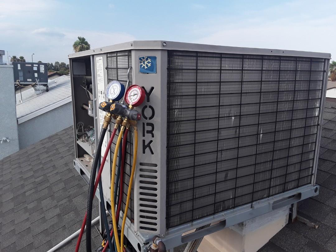 York gas package system AC repair in Las Vegas