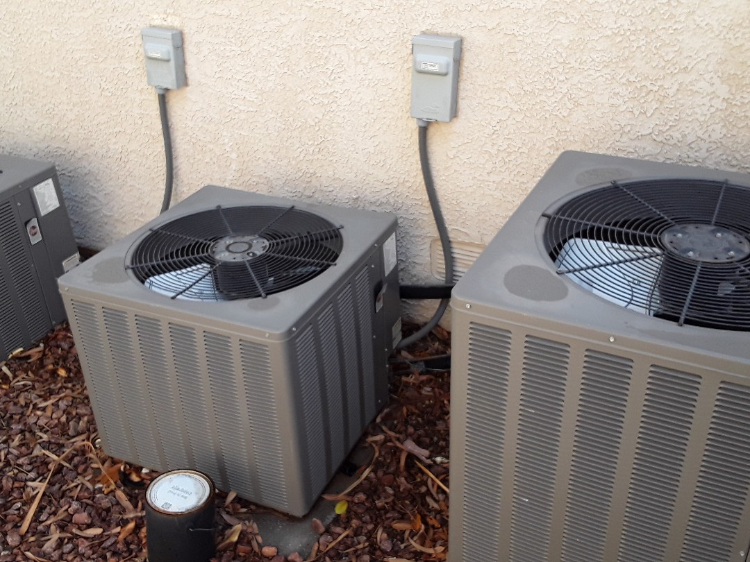 Las Vegas, NV - Performed heating and cooling tune ups on three rheem gas split units