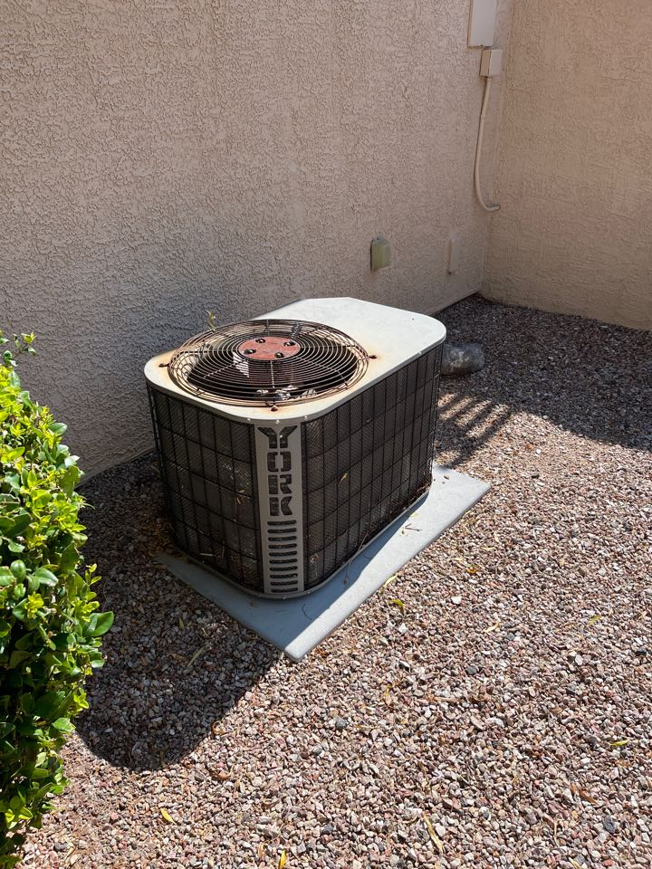 Henderson, NV - Performed a no cooling repair on a split York heat pump system.