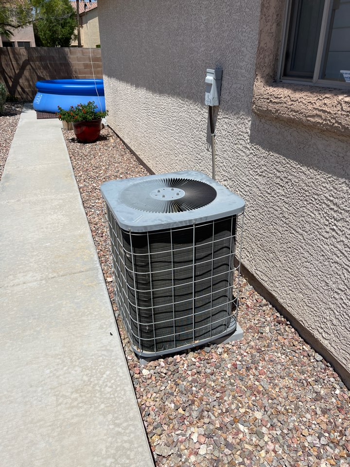 Las Vegas, NV - Performed no cooling repair on a gas split air conditioner unit in southern highlands.