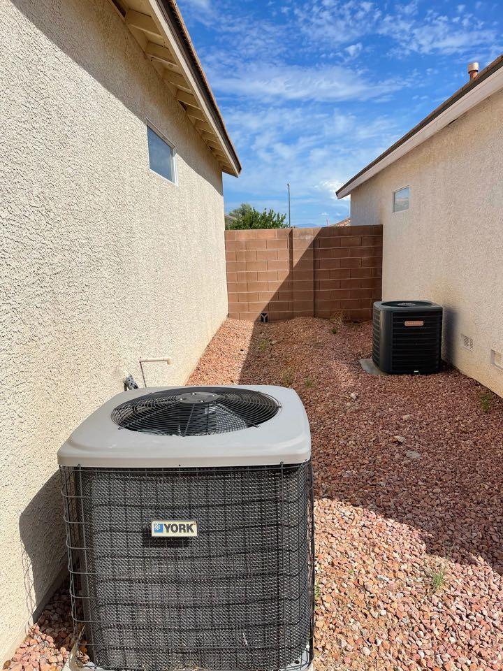 Las Vegas, NV - Performed cooling tune up on gas split York system