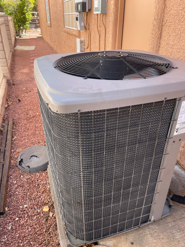 Las Vegas, NV - Performed a cooling efficiency tune up in a York ac gas split unit.