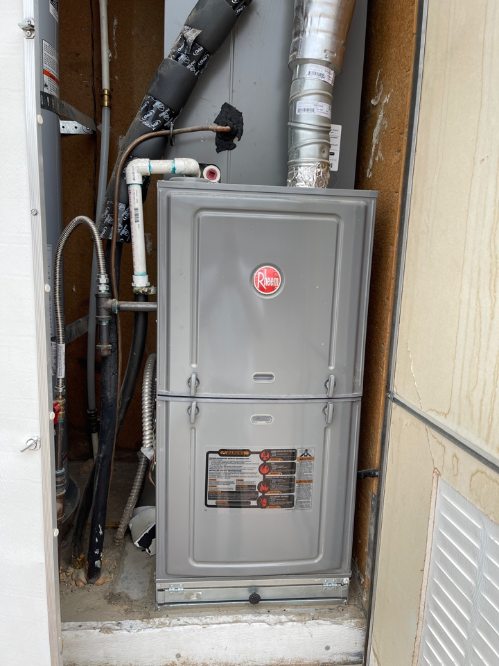 Las Vegas, NV - Performed heating tune up on a mobile home gas furnace