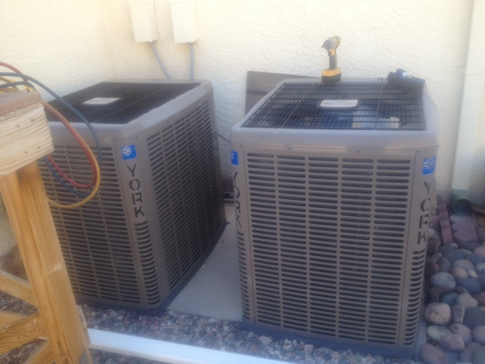 Boulder City, NV - Performed ac tune ups on two 4 ton 17 seer York heat pumps