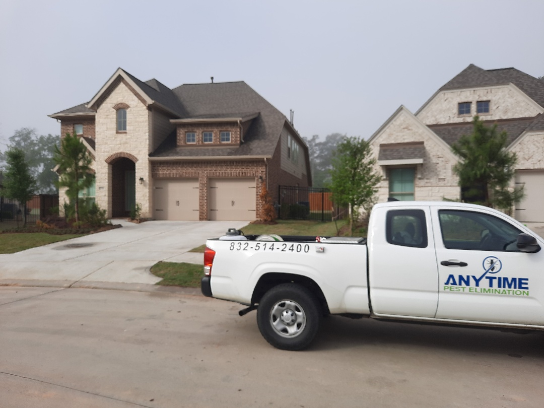 Treated exterior of home in Magnolia TX for ants spiders and cockroaches.  Signed customer up of quarterly pest control. Thank you for your business and have a great day.  Thank you, Christian with Anytime Pest