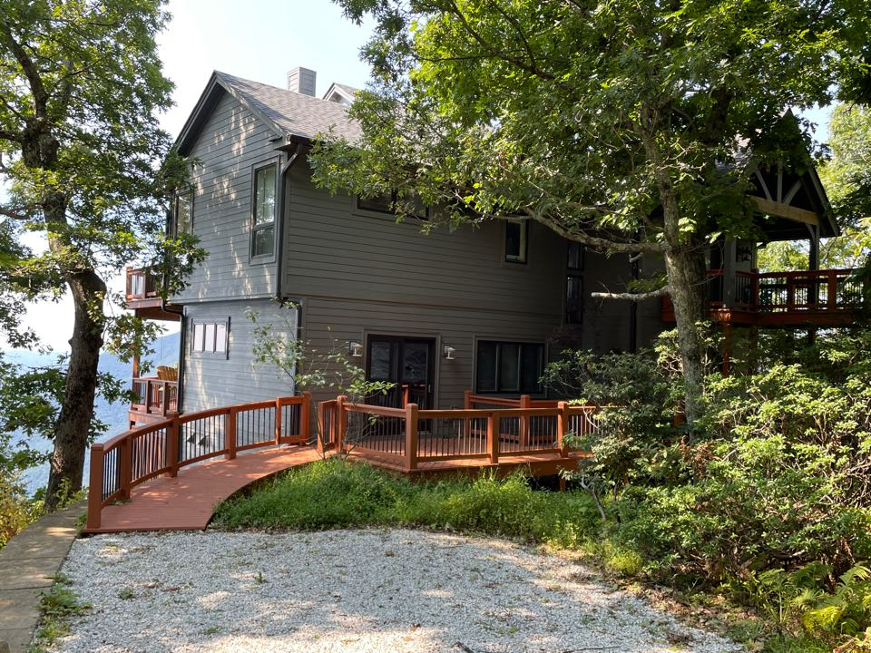 Wintergreen Resort, VA - Just finished installing a new roof new deck new gutters and new windows on this mountain home