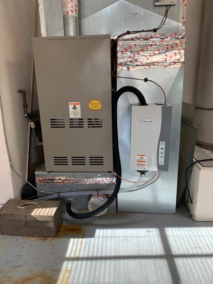 Installation of April Aire 800 steam humidifier