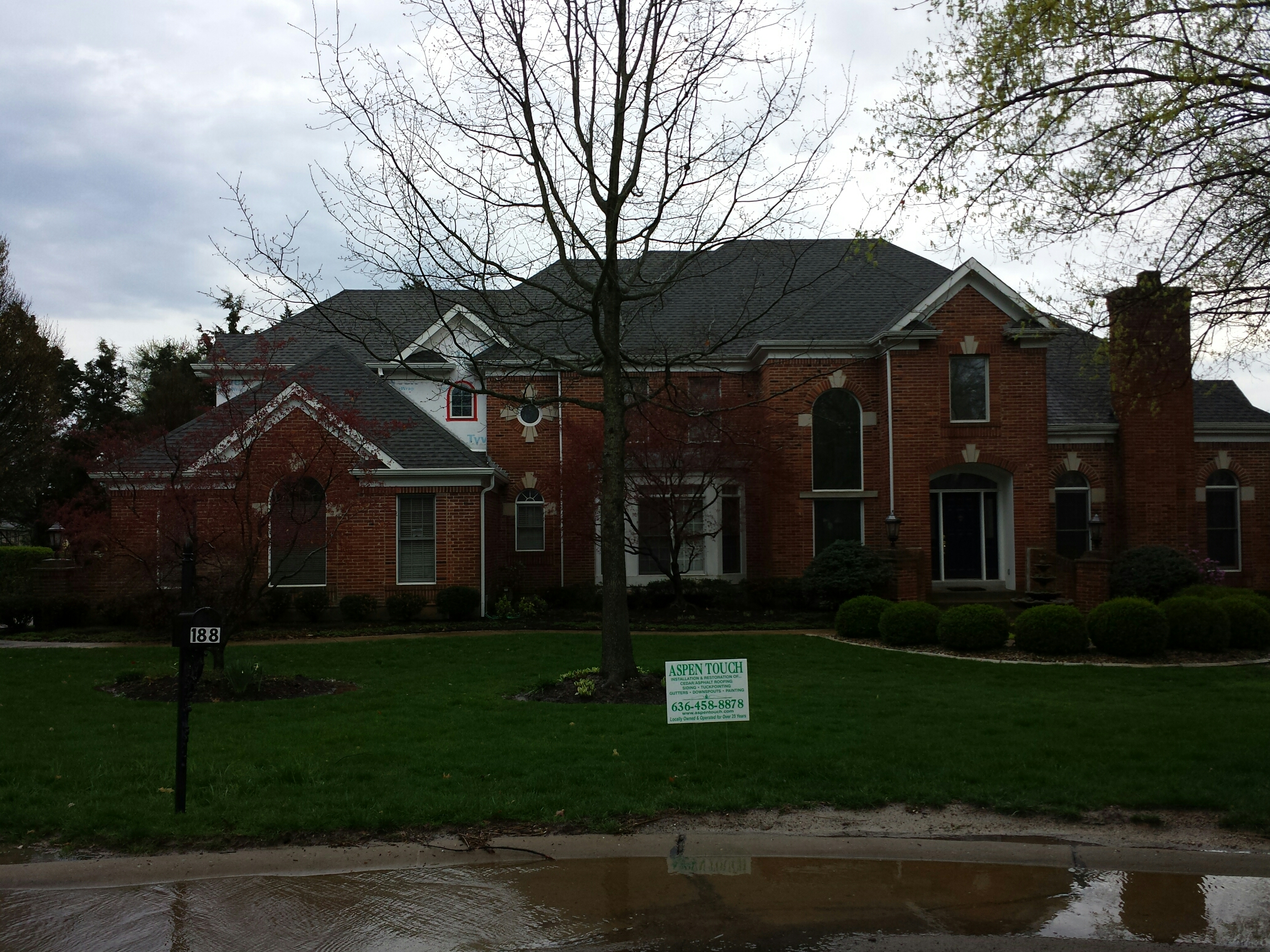Creve Coeur, MO - New roof, siding and gutters. Insurance claim on roof. Call Joe 314-550-7369