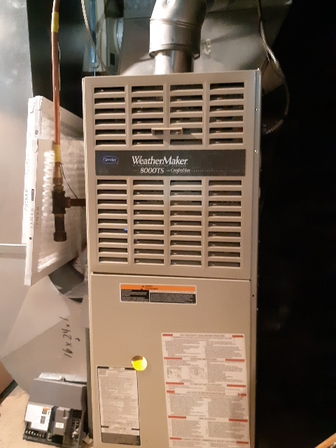 Old Toronto, ON - Circuit board changed on carrier furnace mid efficiency.