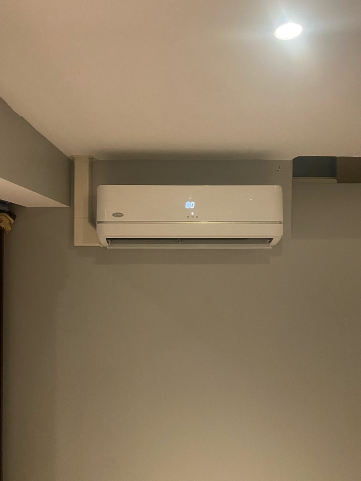 Oshawa, ON - Install new carrier heat pump with three separate heads for heating and cooling in Whitby.