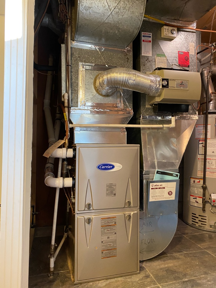 Etobicoke, ON - Install new Carrier 80,000 btu furnace with new exhaust piping in Etobicoke