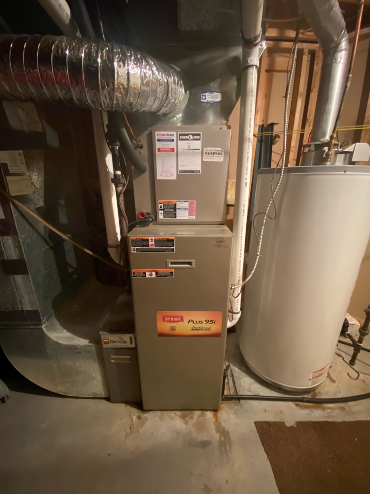 Markham, ON - Install new secondary heat exchanger under warranty on Bryant furnace and replace exhaust abs vent pipe to pvc to meet code.
