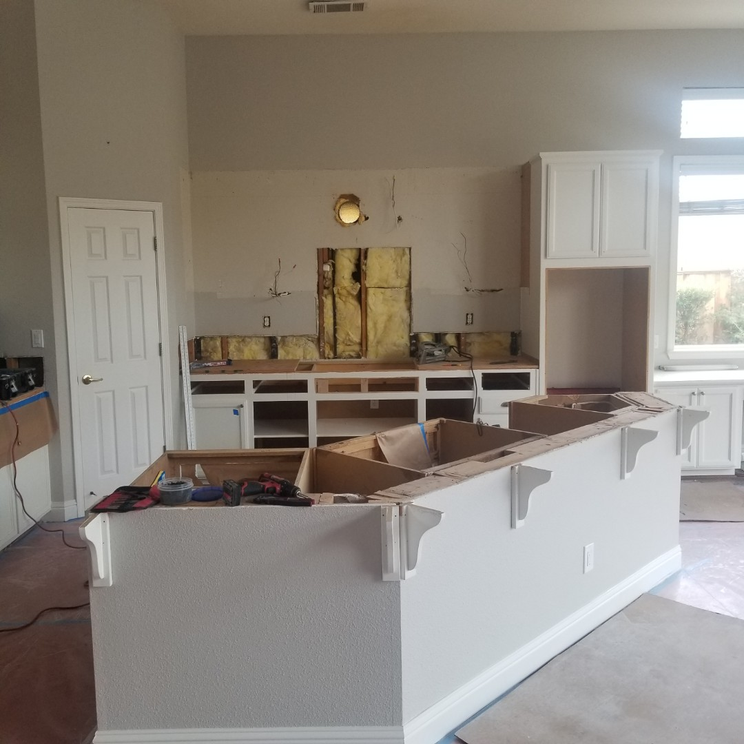 Concord, CA - Finish carpentry and heating/ventilation in kitchen remodel